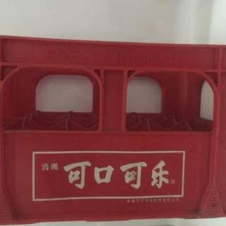早期珠海可口可樂塑膠箱