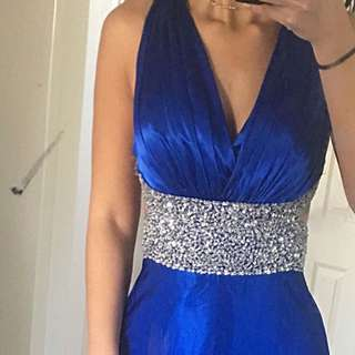 Electric blue formal gown