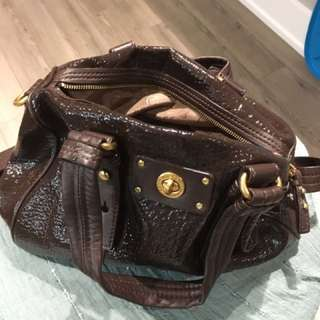 Brown Patent Marc Jacobs bag