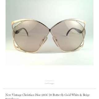 christian dior vintage 1980s sunglasses (preloved price usd599)
