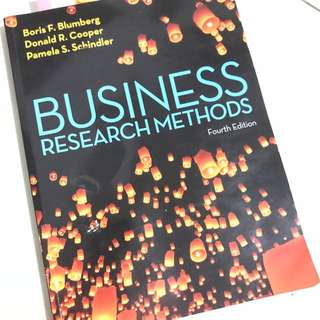 """""""Business Research Methods"""" 4th edition"""