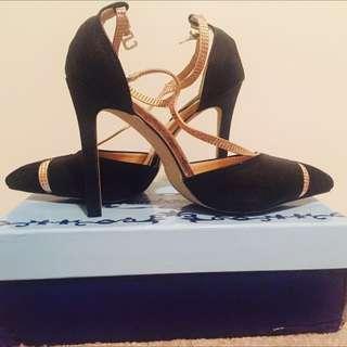 Stilettos  (black And Gold)