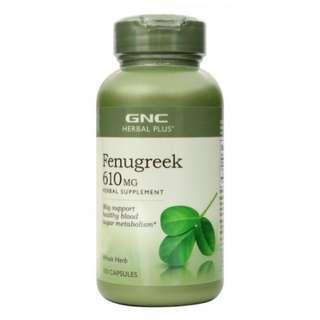 GNC Herbal Plus Whole Herb Fenugreek (100 Capsules) NOT HALAL