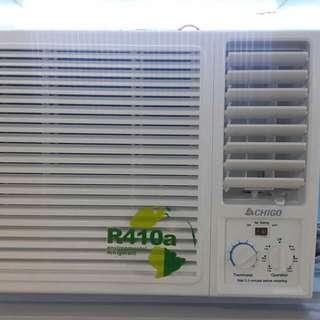 Brandnew Chigo Window Type Aircon r410a refrigerant Inverter and non-inverter
