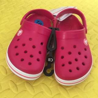authentic crocsband raspberry