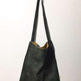 Pleather Suede Tote Bag