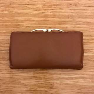 Women's brown wallet