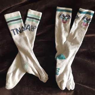 Aritzia knee high thick winter socks