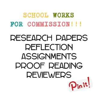 School Works For Commission