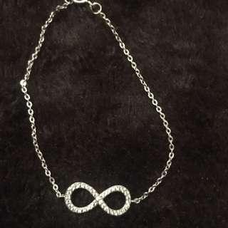 White sapphire infinity bracelet