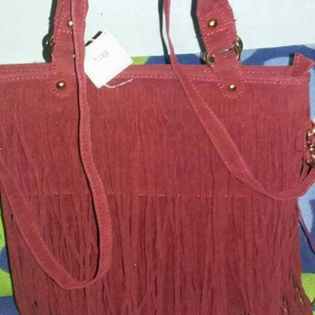 REPRICED: 2 Way Fringe Bag