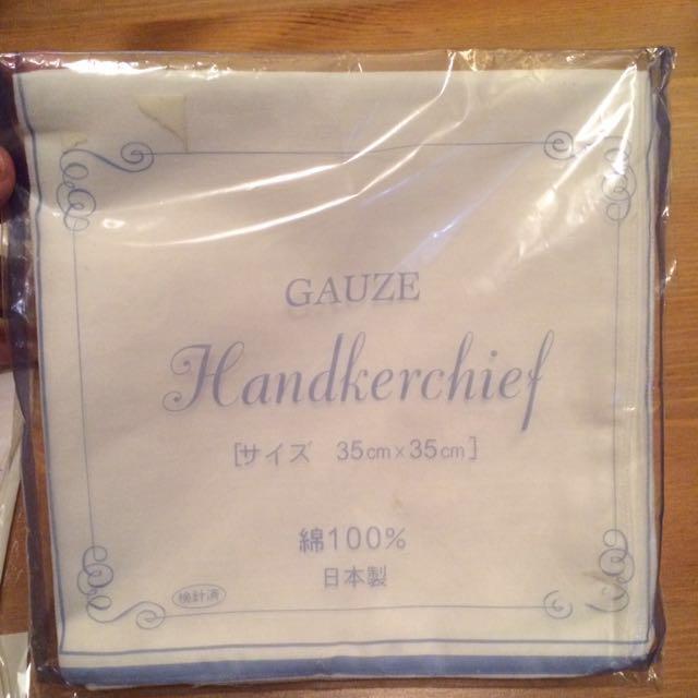 日本製純棉手帕紗布巾擦澡巾+優生嬰兒舒適長褲