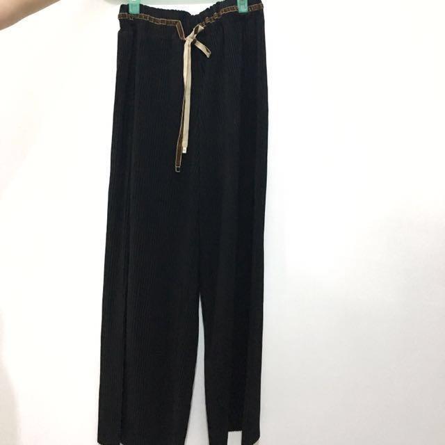 【全新】秋冬款壓褶寬褲