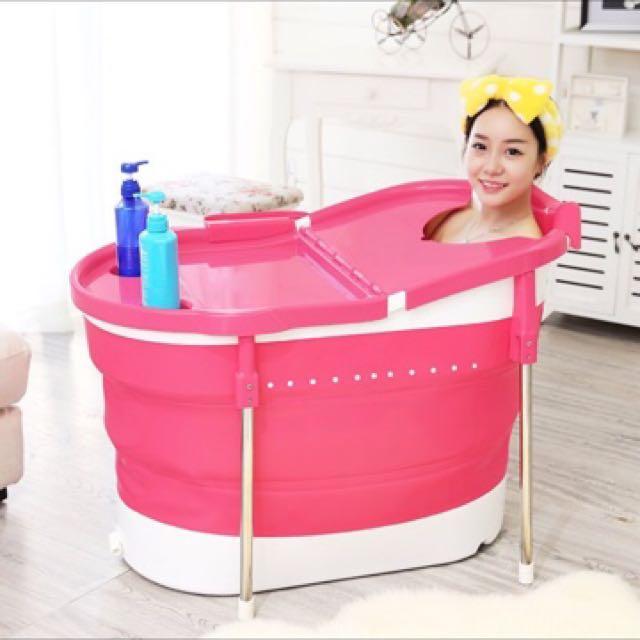 可伸縮泡澡桶
