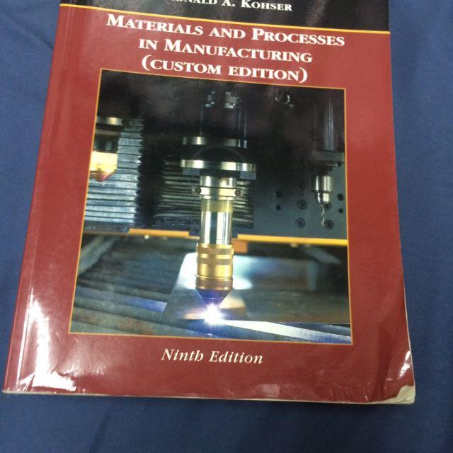 製造程序 materials and processes in manufacturing