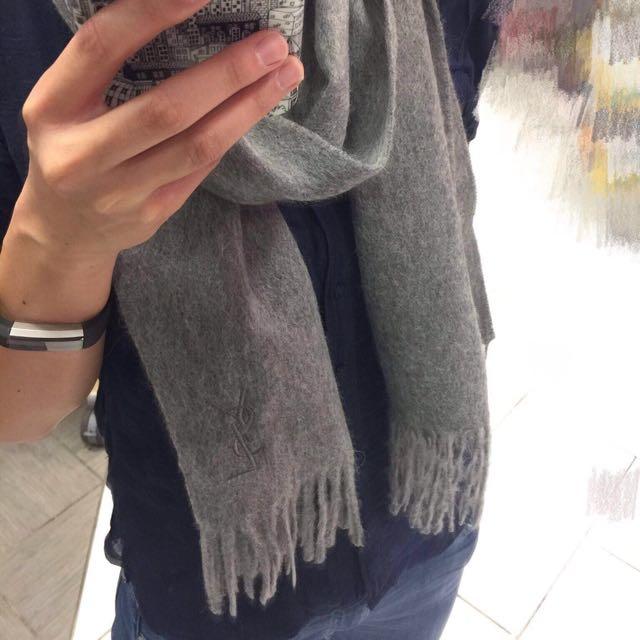 🇫🇷 YSL 經典刺繡全羊毛圍巾