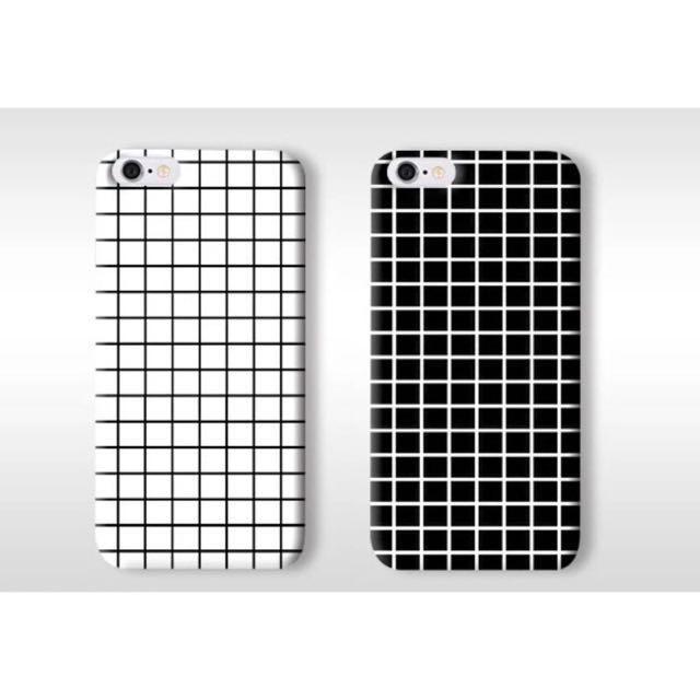 💗黑白格子手機殼-A97