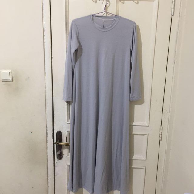 Abaya kaos abu