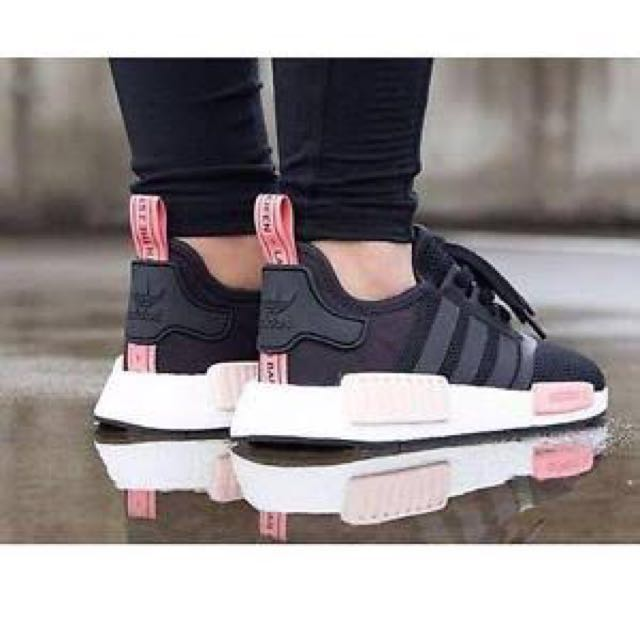 adidas nmd black and pink