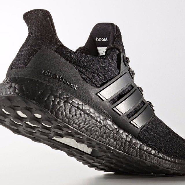 2ca616723a5f6 Adidas Ultra Boost 3.0 Triple Black V2 US10