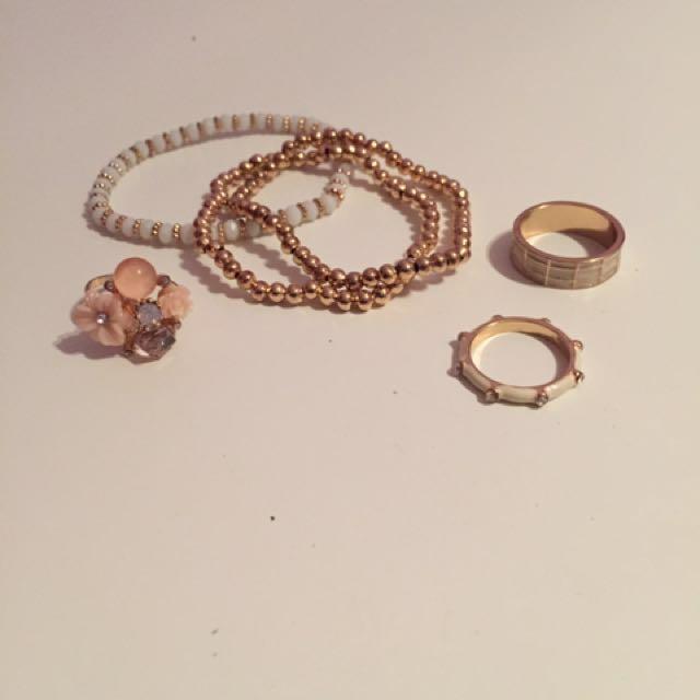 Aldo Rings and Bracelets