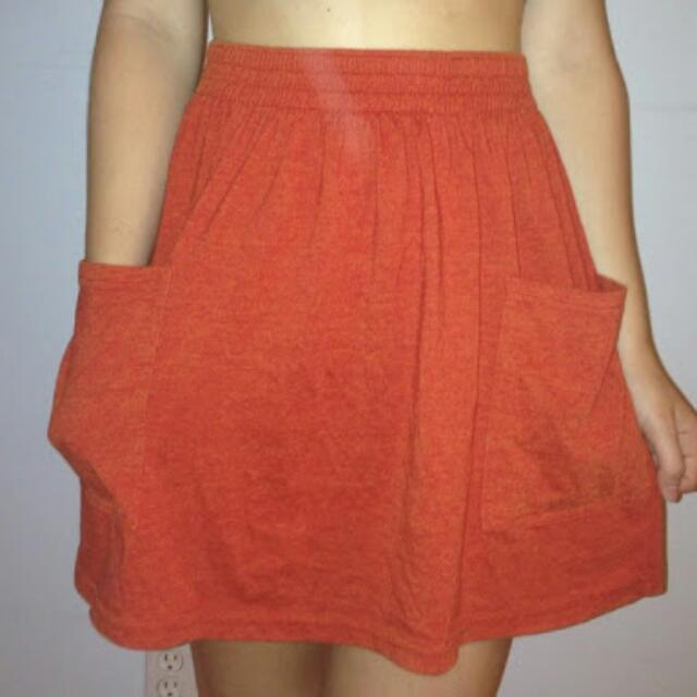 American Apparel Pocketed Skirt