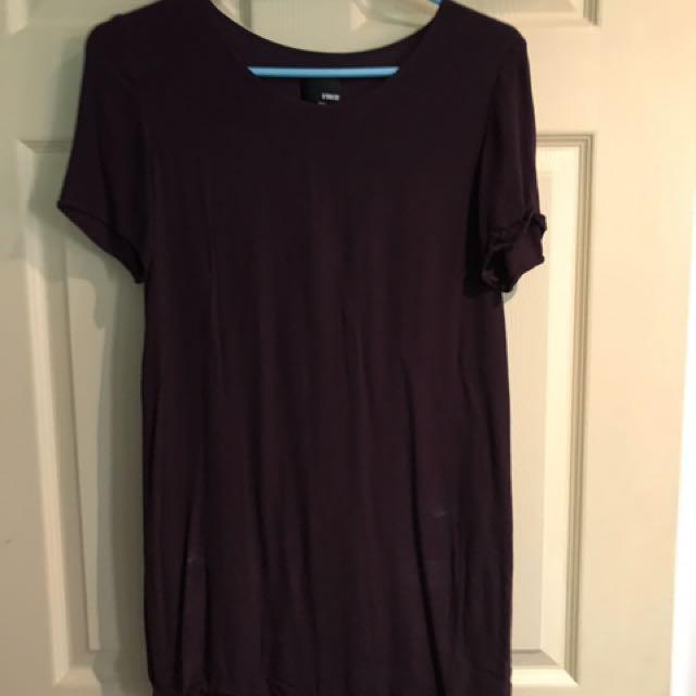 Aritiza plum tshirt dress