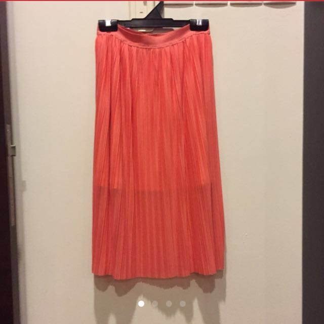 87f1091f5 ASOS Jersey Midi Skirt With Pleats - Coral / UK 8, Women's Fashion,  Clothes, Pants, Jeans & Shorts on Carousell