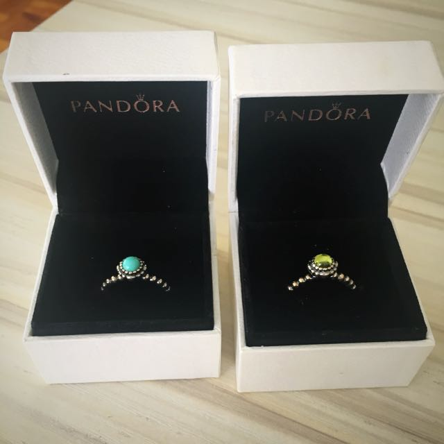Authentic Pandora Birthstone Rings