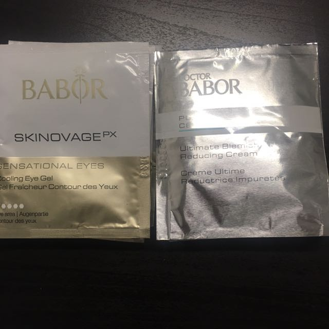 Babor Sensational Eyes and Babor Purity Ultimate Blemish Reducing Cream