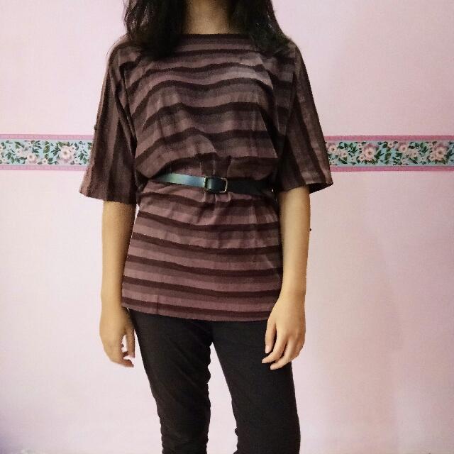 Baju Cokelat Garis-garis