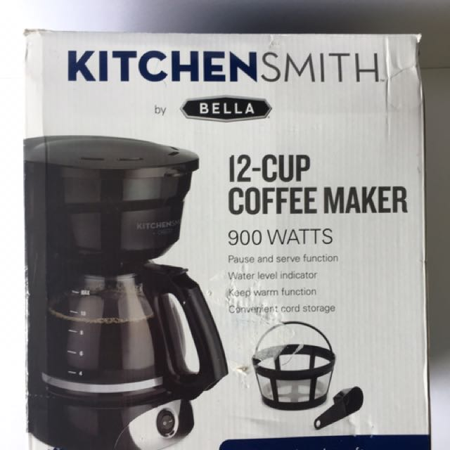BELLA Kitchen Smith 12 Cup Manual Coffee Maker