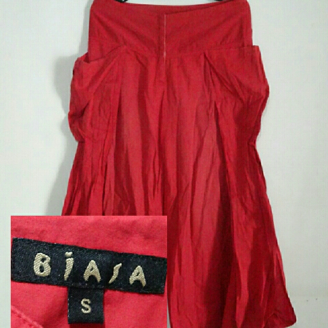 Biasa Red Cullotes Pants