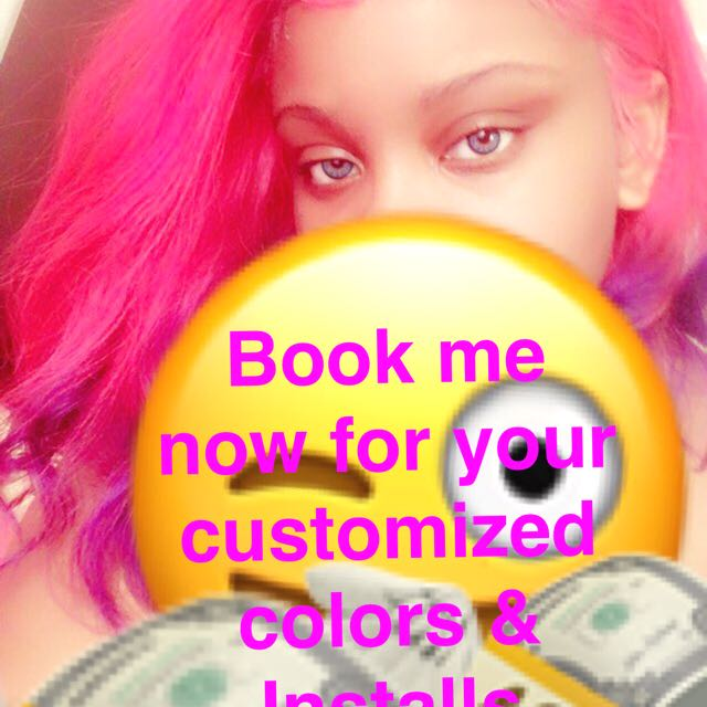 Bundles and wigs customized colours !!