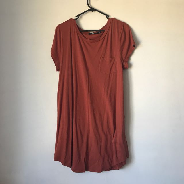 Burnt Orange T Shirt Dress