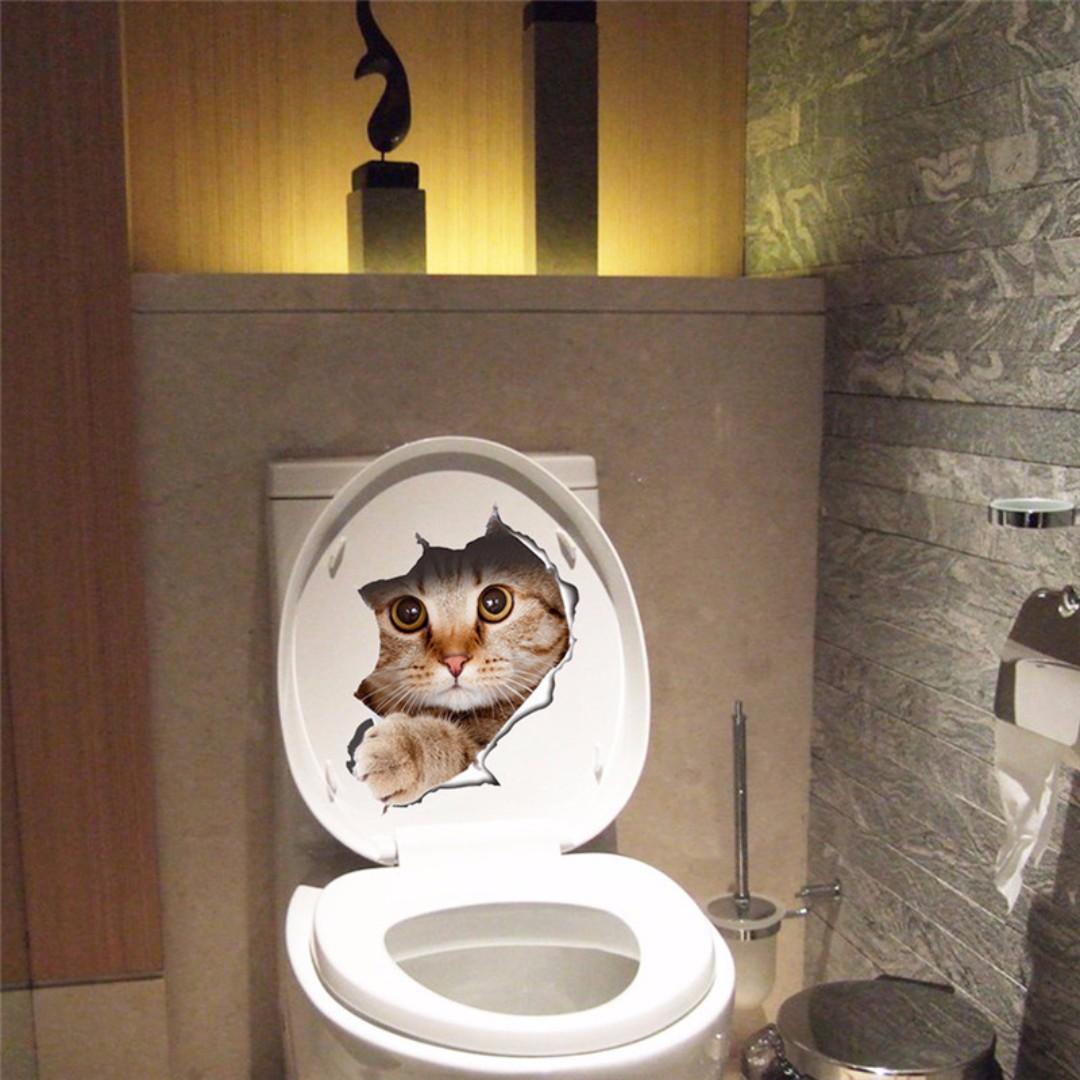 Cat Toilet Seat Wall Sticker