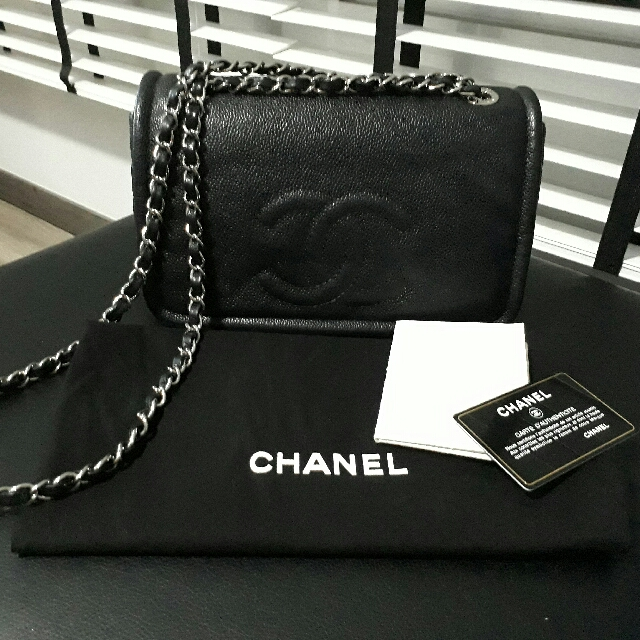 9e0bfa991a76 Chanel Caviar Timeless Medium Black Flap Quilted CC, Luxury, Bags & Wallets  on Carousell