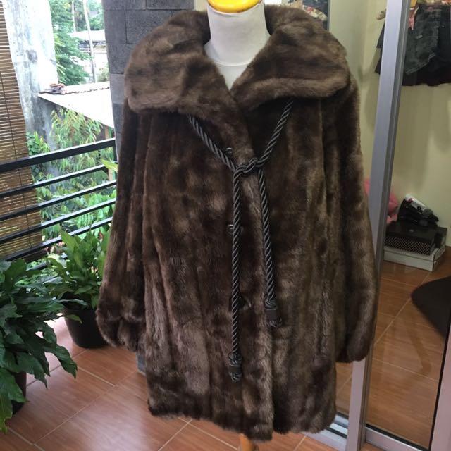 Coat bulu asli