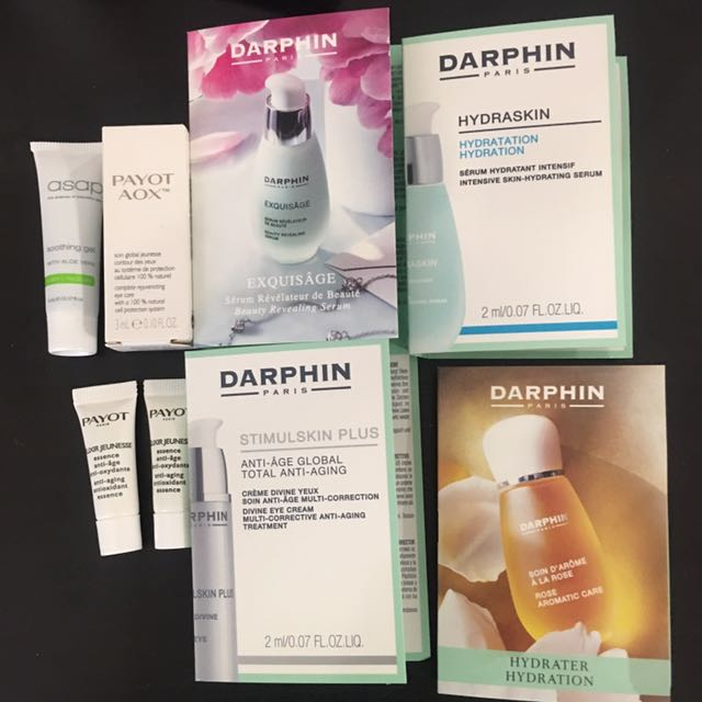 Darphin and Payot serum and eyes
