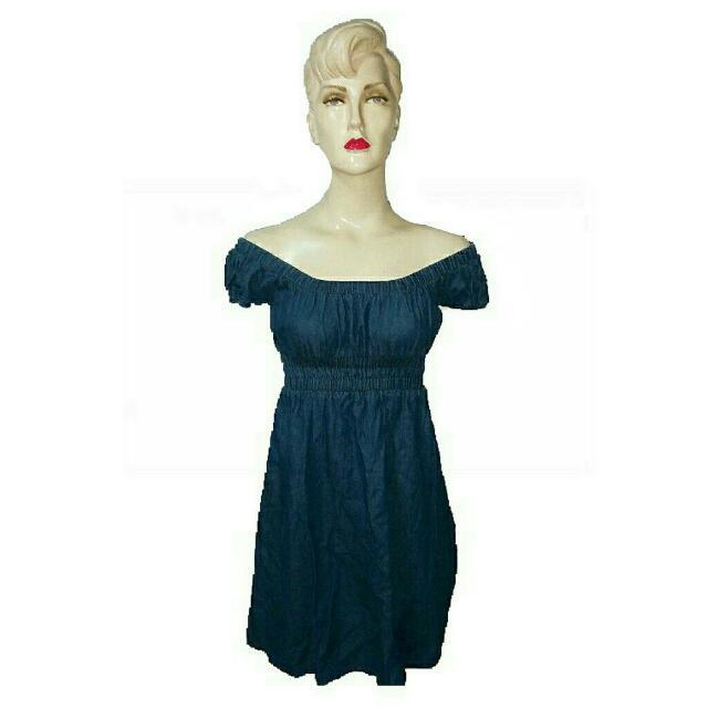 Denim Dress (Can Be Worn Off Shoulder)