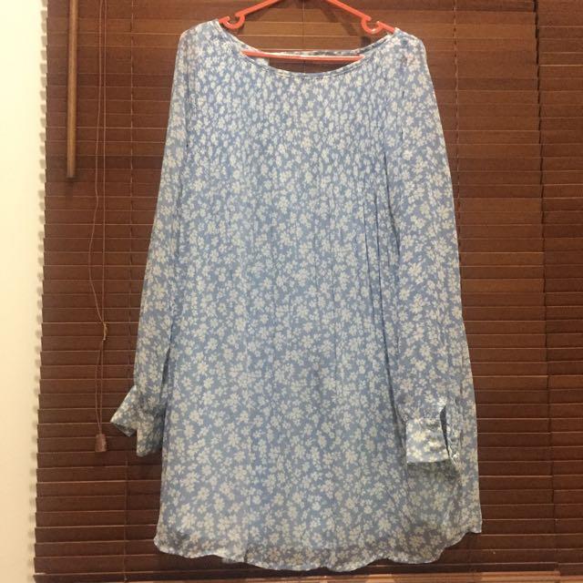 Floral Blue Dress