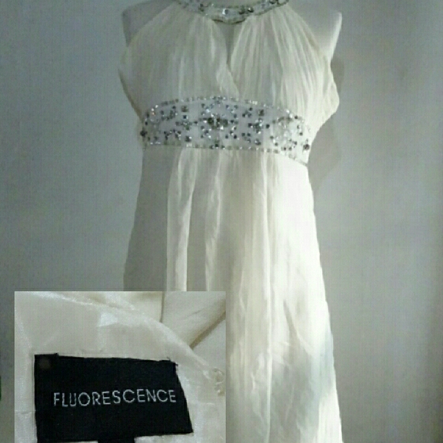 Fluorescence White Dress