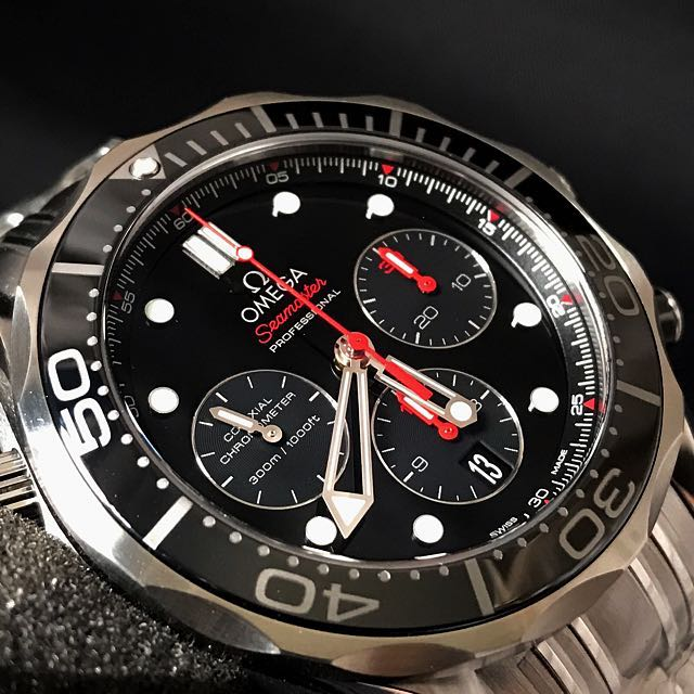 2a08d09b4 BNIB OMEGA SEAMASTER DIVER 300M CO-AXIAL CHRONOGRAPH 44MM WATCH  212.30.44.50.01.001, Luxury, Watches on Carousell