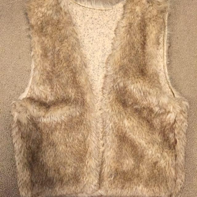 Fur vest size XS