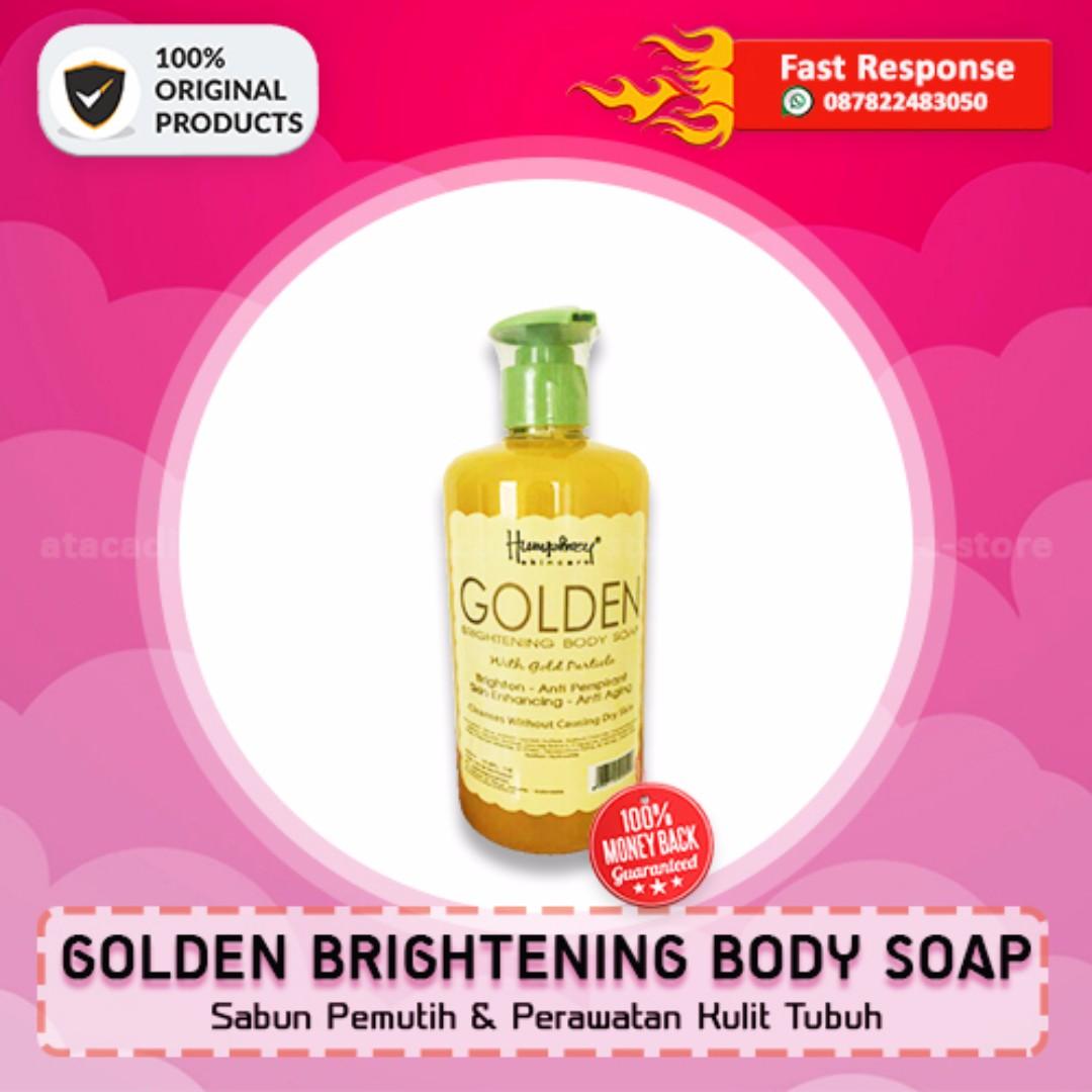 GOLDEN BRIGHTENING SOAP BPOM- Sabun Cair Pemutih Kulit - Original