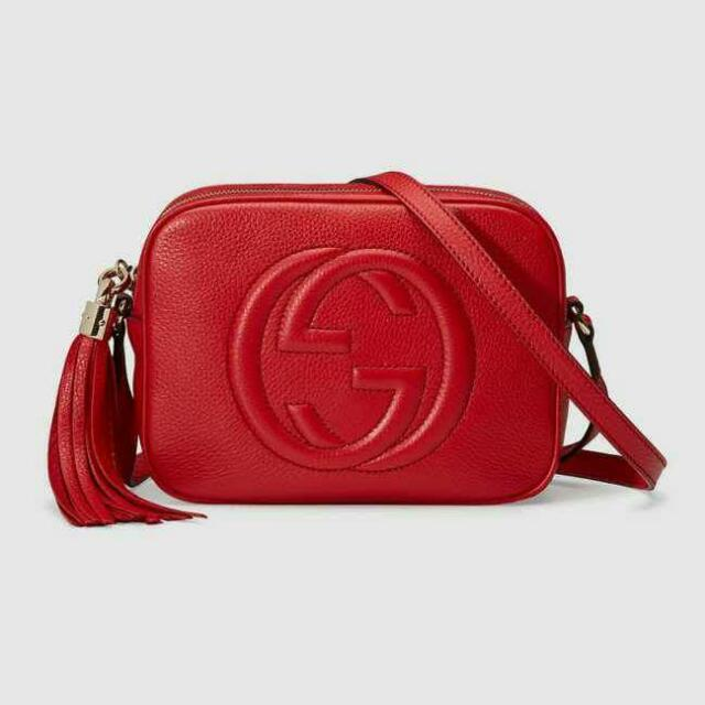 c4a2d2914875 In Stock!!! Gucci Soho Disco Red Sling Bag, Women's Fashion, Bags & Wallets  on Carousell