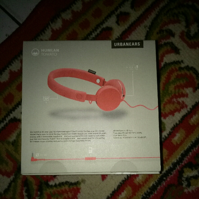 Headphone Urbanears Humlan Tomato, Mobile Phones & Tablets, Mobile & Tablet Accessories on Carousell