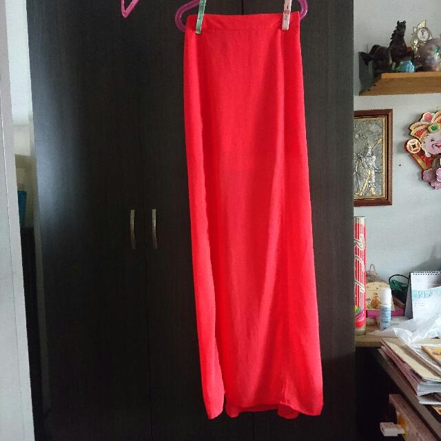 H&M Hot Pink Maxi Skirt