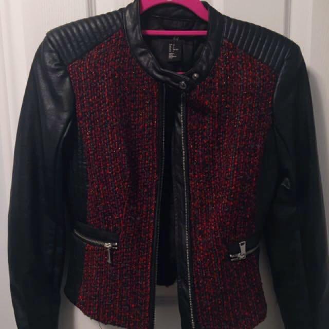 H&M size 2 leather jacket