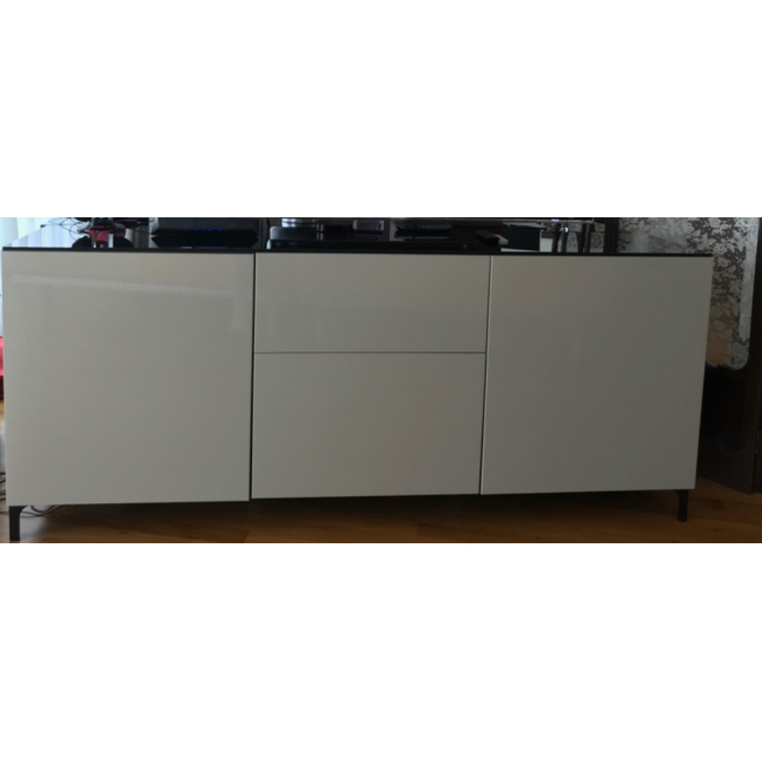ikea besta sideboard, furniture, shelves & drawers on carousell